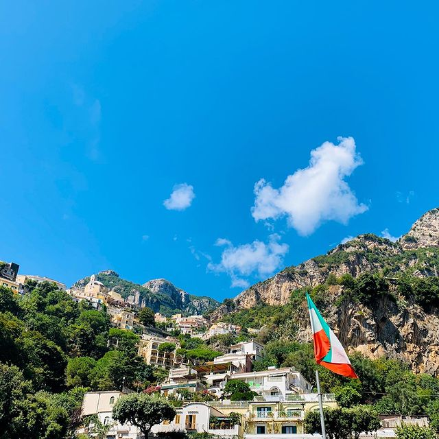 The beauty of Positano continues even when you look up?