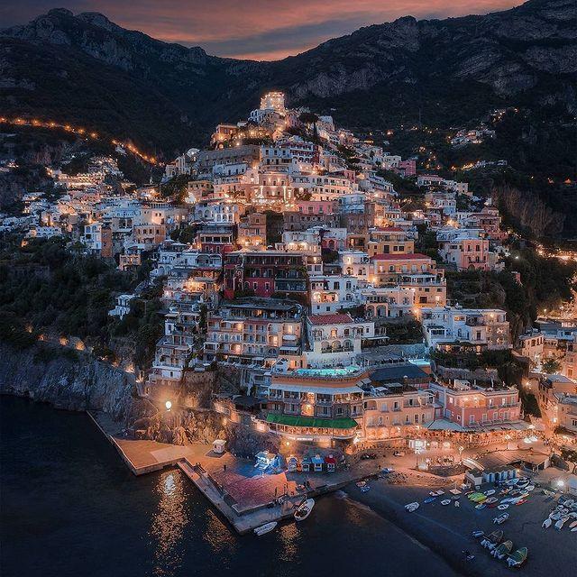 """Night is always darker before the dawn and life is the same, the hard times will pass"" ? ✨ (Ernest Hemingway) ? Positano ? Photo @sebastien.nagy * *#enjoythecoast #positano #positanoitaly #instapositano #amalficoast #best_amalficoast #costieraamalfitana #positanoamalficoast #igersitalia #positanogram #italy_vacations #beach #italytrip #bestplacesmagazine #destinationearth #earthpix #travelnomads"